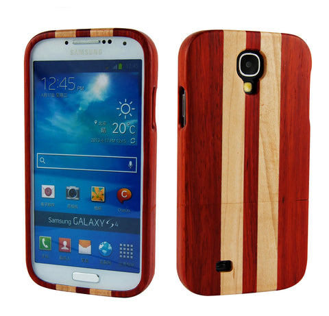 eimolife SamSung Galaxy S4 IV Natural Handmade Wood Bamboo Case Protective Cover (rosewood & maple)