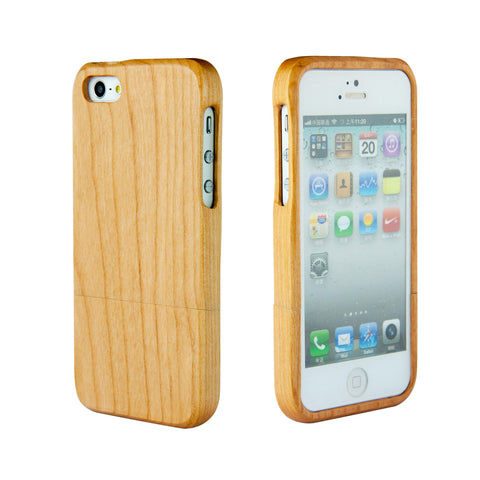eimolife iPhone 5 5S Unique Handmade Natural Wood Case Bamboo Case Cover (maple)