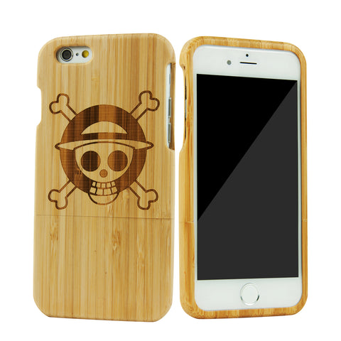 "eimolife iPhone 6 Plus Unique Handmade Natural Wood Bamboo Case Protective Cover 5.5"" (one piece)"