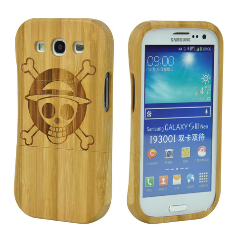 eimolife SamSung Galaxy S3 III Natural Handmade Wood Bamboo Case Protective Cover (one piece)