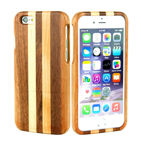 eimolife iPhone 6 4.7-inch Unique Handmade Natural Wood Bamboo Case Protective Cover (walnut & maple)