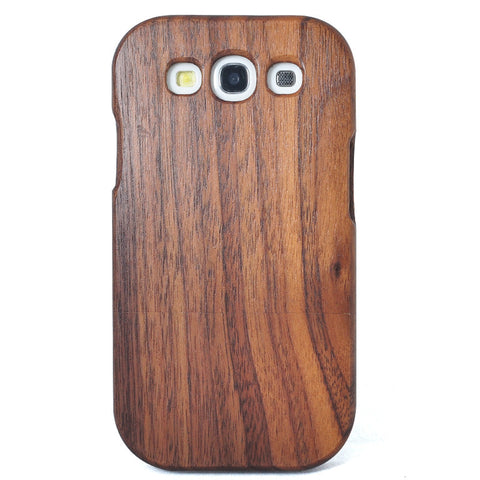eimolife SamSung Galaxy S3 III Natural Handmade Wood Bamboo Case Protective Cover (black walnut)