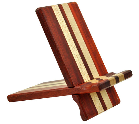 eimolife Natural wood Bamboo hard Panel stand for iPhone, iPad, SamSung mobile phone, Tablet PCs, e-Readers, kindle, etc. (rosewood & maple)