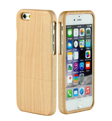 "eimolife iPhone 6 Plus Unique Handmade Natural Wood Bamboo Case Protective Cover 5.5"" (maple)"