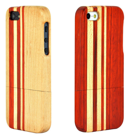 eimolife iPhone 5 5S Unique Handmade Natural Wood Case Bamboo Case Cover (couple)