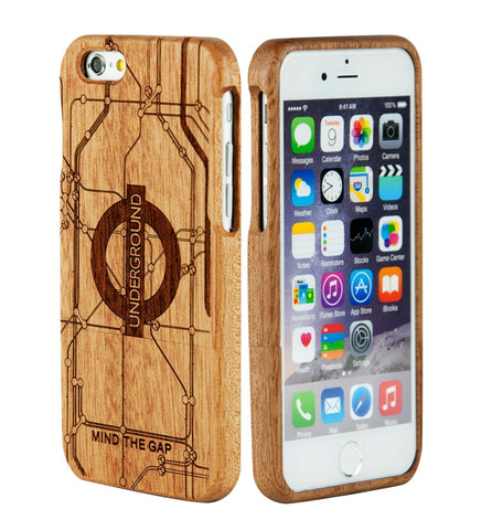 eimolife iPhone 6 4.7-inch Unique Handmade Natural Wood Bamboo Case Protective Cover (underground)
