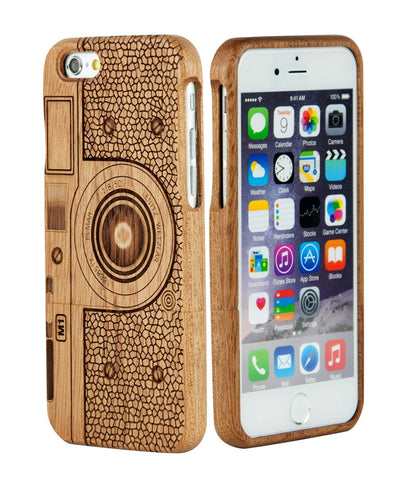 eimolife iPhone 6 4.7-inch Unique Handmade Natural Wood Bamboo Case Protective Cover (C4 sapele)