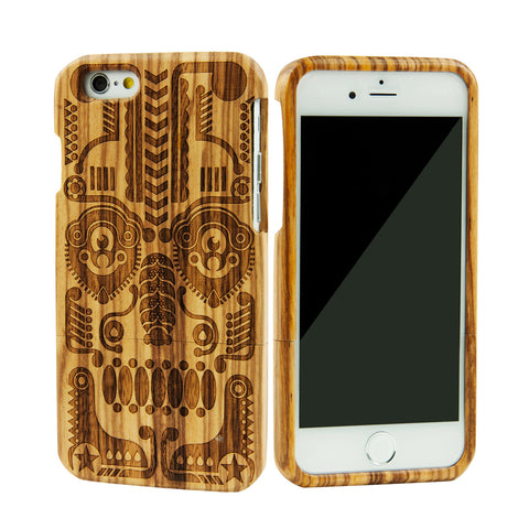 eimolife iPhone 6 4.7-inch Unique Handmade Natural Wood Bamboo Case Protective Cover (mask)