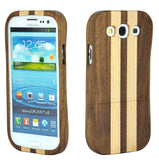 eimolife SamSung Galaxy S3 III Natural Handmade Wood Bamboo Case Protective Cover (walnut & maple)