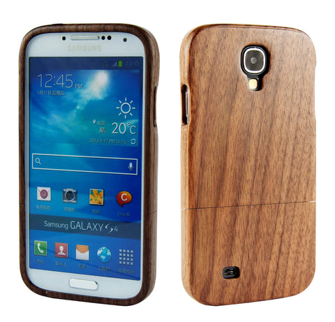 eimolife SamSung Galaxy S4 IV Natural Handmade Wood Bamboo Case Protective Cover (black walnut)