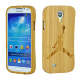 eimolife SamSung Galaxy S4 IV Natural Handmade Wood Bamboo Case Protective Cover (Jordon)
