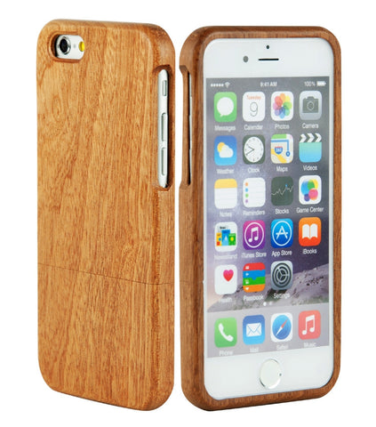 eimolife iPhone 6 4.7-inch Unique Handmade Natural Wood Bamboo Case Protective Cover (sapele)