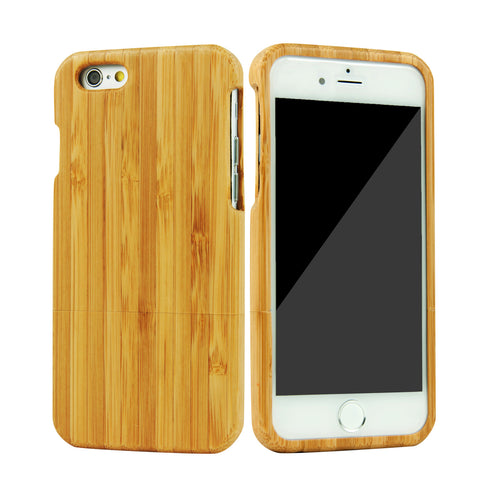 "eimolife iPhone 6 Plus Unique Handmade Natural Wood Bamboo Case Protective Cover 5.5"" (bamboo)"