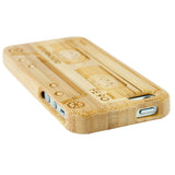 eimolife iPhone 5 5S Unique Handmade Natural Wood Case Bamboo Case Cover (cassette)