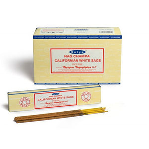 Incense Sticks Satya - Nag Champa Californian White Sage - 16g (approx 15 Sticks)