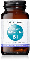 Viridian HIGH ONE B-Complex B1 30 capsules