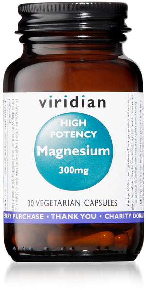 Viridian High Potency Magnesium 300mg - 30 Veg Caps