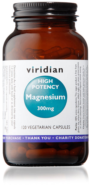Viridian High Potency Magnesium 300mg - 120 Veg Caps