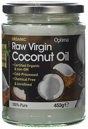 Optima Raw Virgin Coconut Oil - 453g Jar
