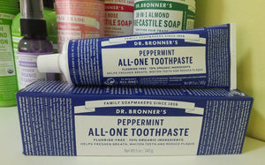 Dr. Bronner All-One! Peppermint Toothpaste - 140g