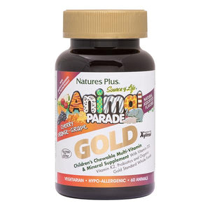 Natures Plus Animal Parade GOLD Children's Chewable Multi Vitamin - Assorted Flavours 120's