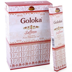 Incense Sticks - Saffron - 15gms - 12 Sticks