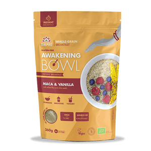 Iswari Awakening Bowl Whole Grain Instant Breakfast (360g) - Maca & Vanilla