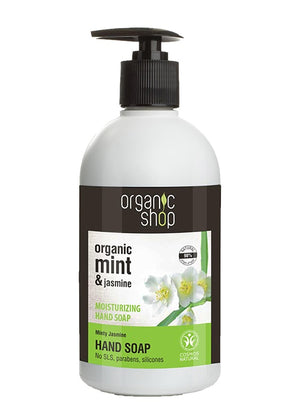 Organic Shop Moisturising Hand Liquid Soap (Minty Jasmine) 500ml