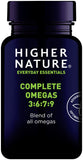 Higher Nature Complete Omegas 3:6:7:9 (90 Caps)