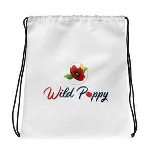 Wild Poppy Drawstring bag