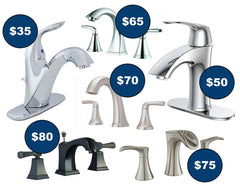 bathroom faucets on clearance sale - single handle , wall mounted , widespread , vessel - valve , stem , cartridge , handle l - closeout open box
