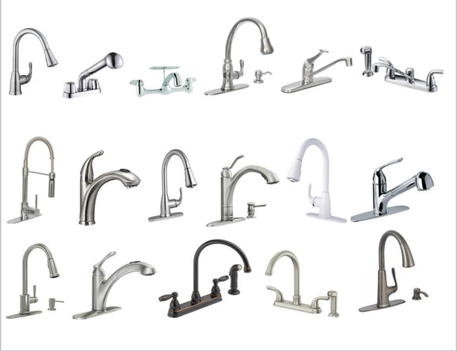 Kitchen and bathroom faucets discount sale online : clearance and closeouts of discontinued faucets surplus stock nickel chrome bronze brass gold - polished and satin or prushed for bathroom sinks and kitchen sinks