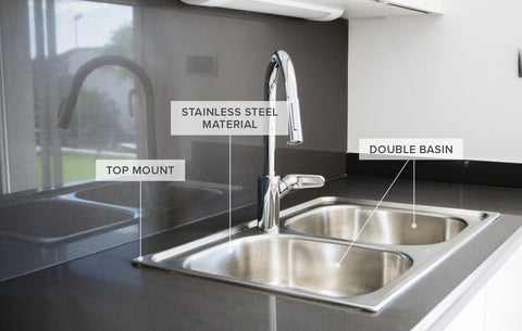 Drop Down and undermount stainless kitchen sink single or double bowl
