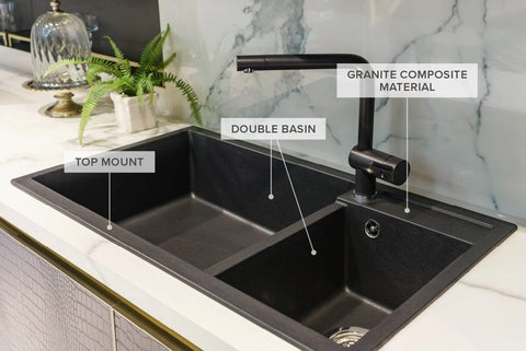 Double Basin Granite Compsite Kitchen Sink