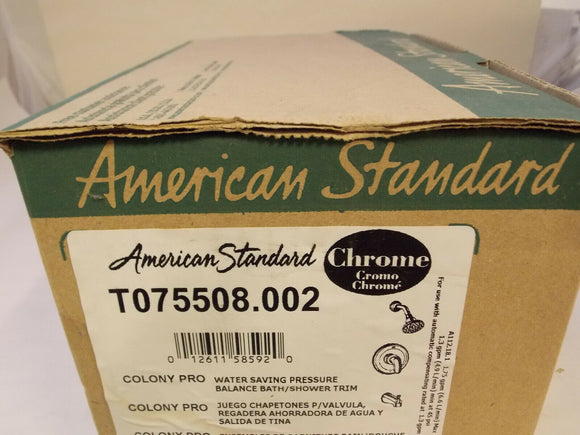 American Standard T075508.002 Colony Pro WSP Balance Bath/Shower Trim - Chrome