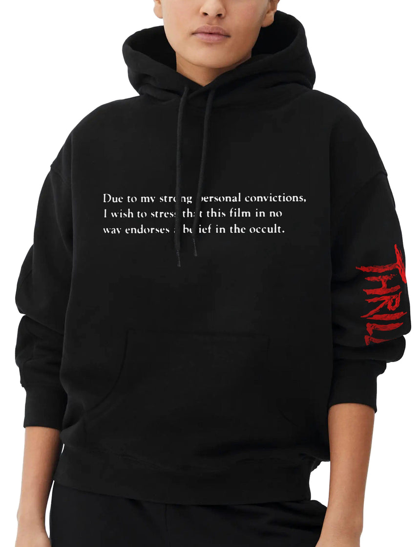 Disclaimer Hooded Sweatshirt