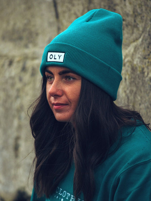 Beanie Hat - Jade Teal - OLY Clothing