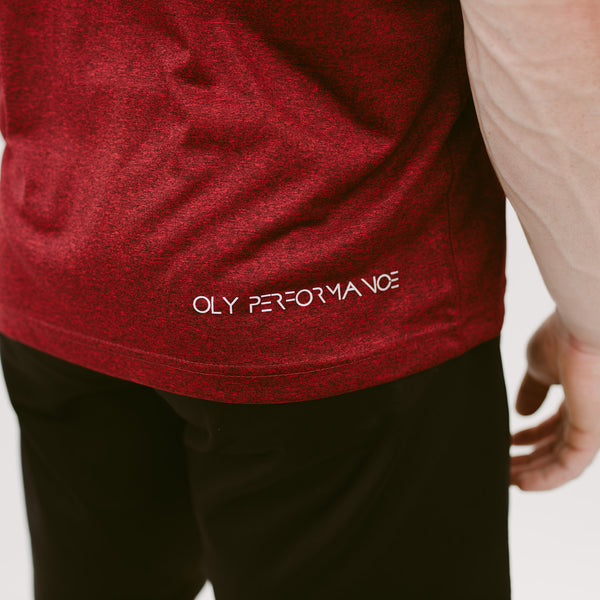 Performance T-shirt - Midnight Red - OLY Clothing