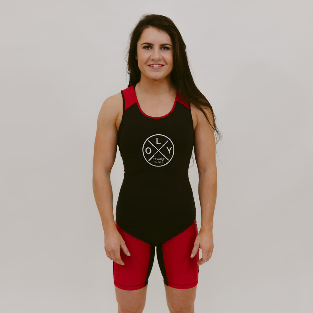 Weightlifting Suit - Red & Black - OLY Clothing