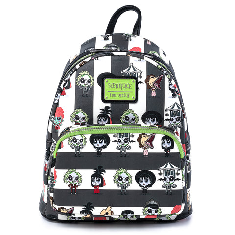 Loungefly X Beetlejuice Chibi AOP Mini Backpack