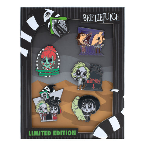 Loungefly X Beetlejuice Summer Convention 5 Piece Enamel Pin Set