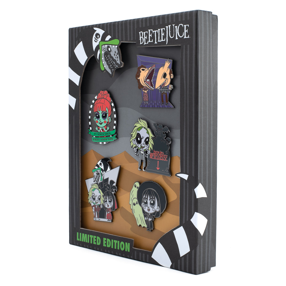 Beetlejuice Summer Convention 5pc Enamel Pin Set-zoom