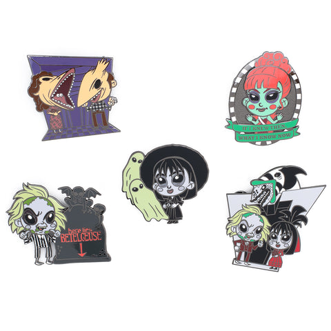Beetlejuice Summer Convention 5pc Enamel Pin Set