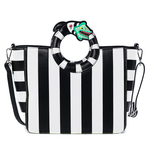 Loungefly X Beetlejuice Sandworm Handle Cross body Bag
