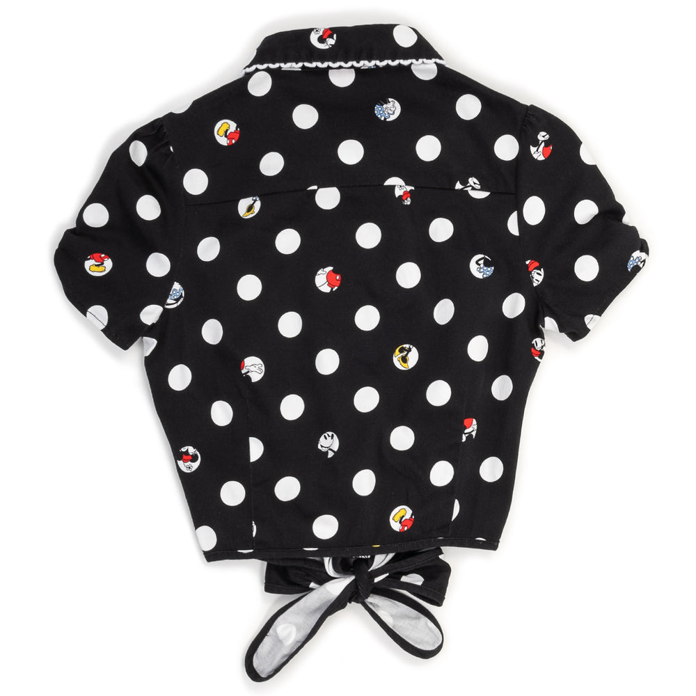 "Disney Stitch Shoppe Mickey Minnie Peek A Boo Dot ""Nadia"" Fashion Top-zoom"