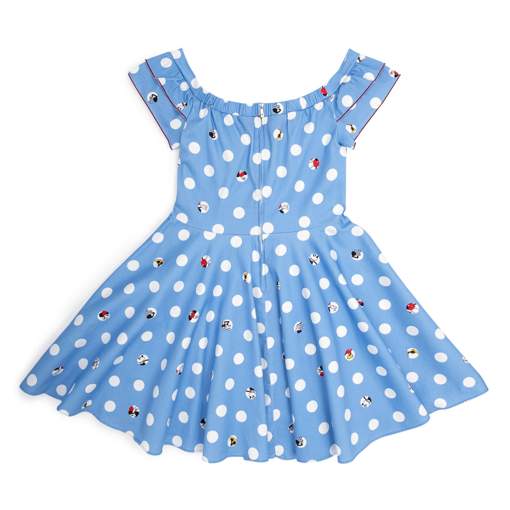 "Disney Stitch Shoppe Mickey Minnie Peek A Boo Dot ""Lizzy"" Date Night Dress-zoom"