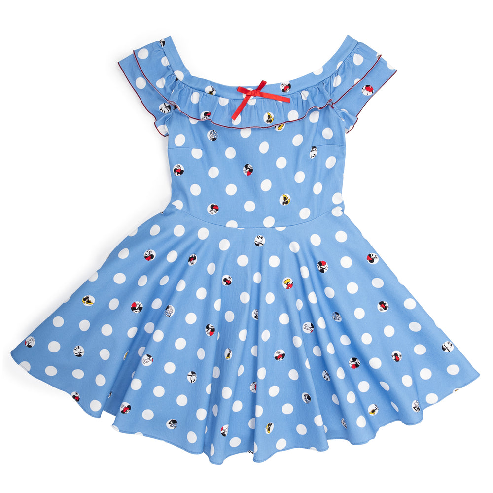 "Disney Stitch Shoppe Mickey Minnie Peek-A-Boo Dot ""Lizzy"" Date Night Dress-zoom"