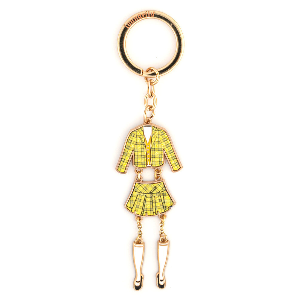 Clueless Cher Outfit Enamel Keychain-zoom
