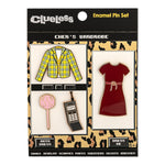Clueless Cher's Wardrobe 4pc Enamel Pin Set