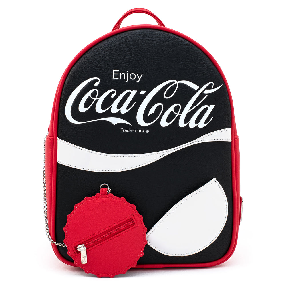 Loungefly X Coca-Cola Logo with Coin Purse Mini Backpack-zoom